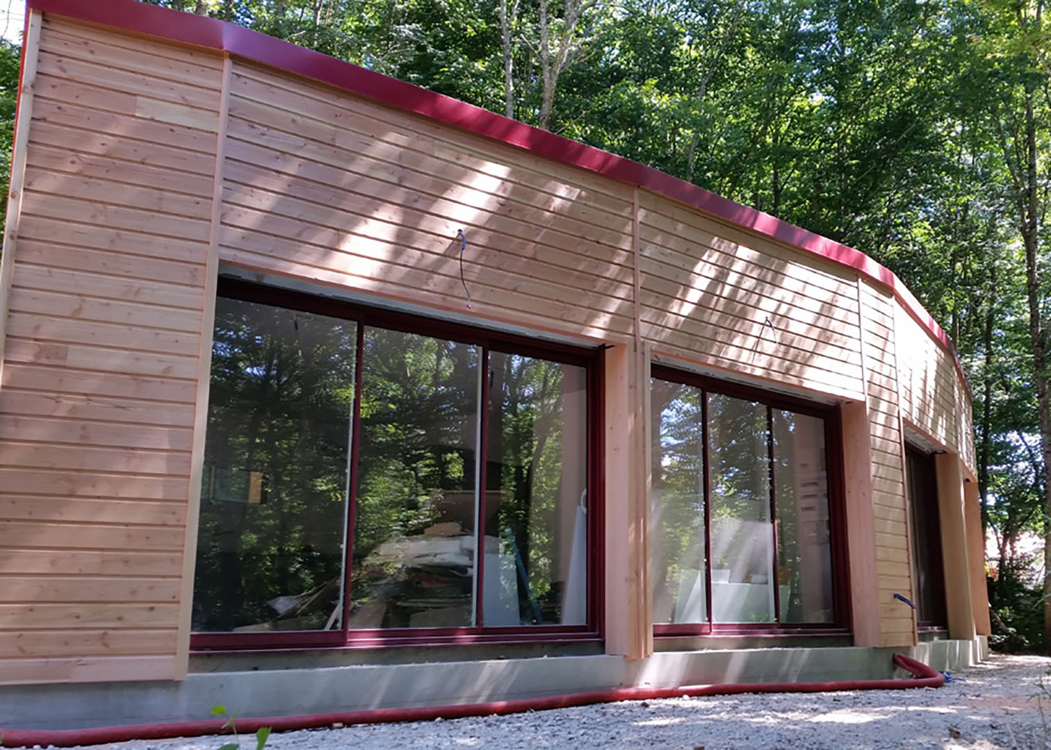 façade maison en bois