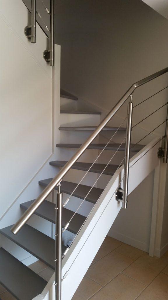 escalier bois et métal